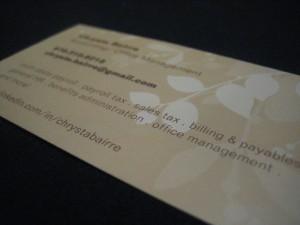 Chrysta Bairre Business Card