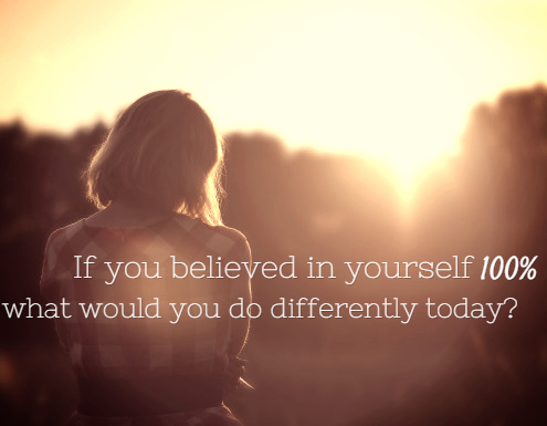 believe in yourself completely