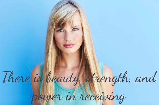 receiving beauty power strength