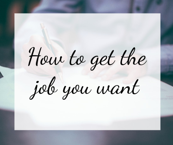 how to get the job you really want